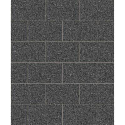 Crown Wallcoverings London Glitter Tile Wallpaper Black M1055 Sample
