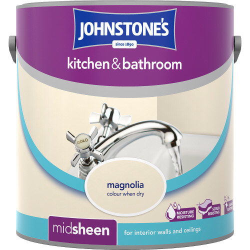 Johnstones Emulsion Magnolia Kitchen & Bathroom 2.5 Litre