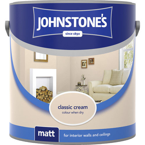 Johnstones Emulsion Classic Cream Vinyl Matt 2.5 Litre