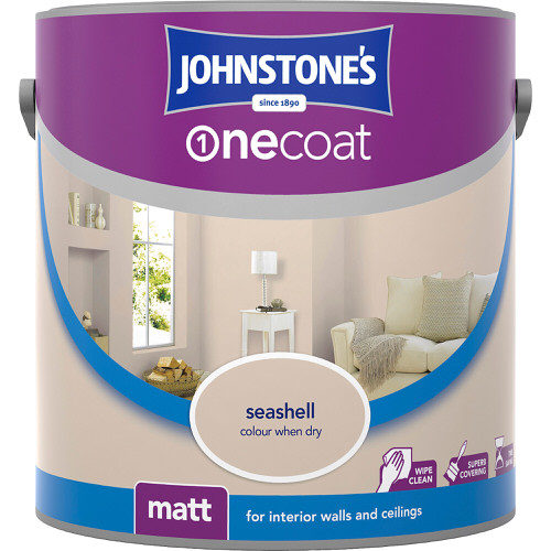 Johnstones Emulsion Seashell One Coat Matt 2.5 Litre