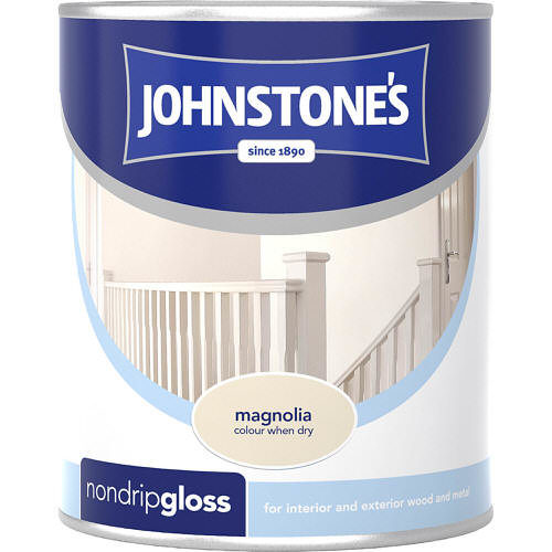 Johnstones Paint For Wood Magnolia Non Drip Gloss 750ml