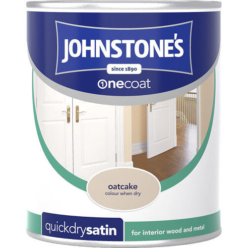 Johnstones Paint For Wood Oatcake Satin 750ml