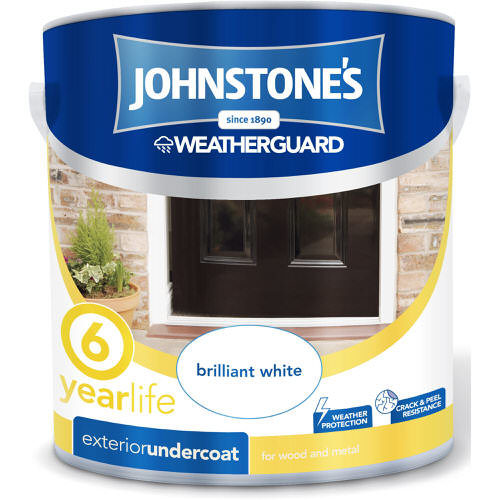 Johnstones Weatherguard Exterior Undercoat Brilliant White 2.5 Litre