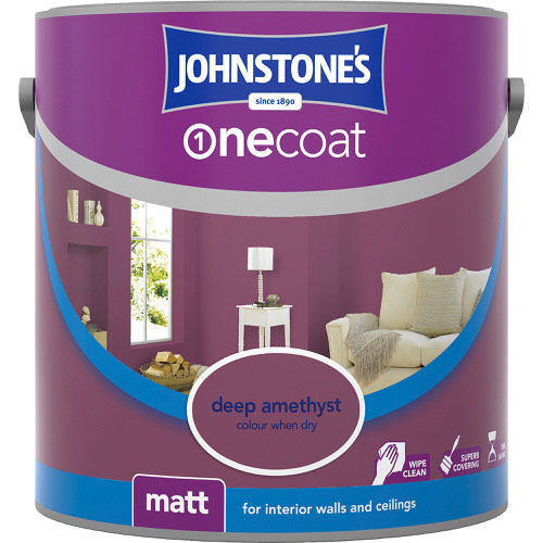 Johnstones Emulsion Deep Amethyst One Coat Matt 2.5 Litre