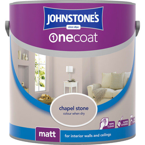 Johnstones Emulsion Chapel Stone One Coat Matt 2.5 Litre