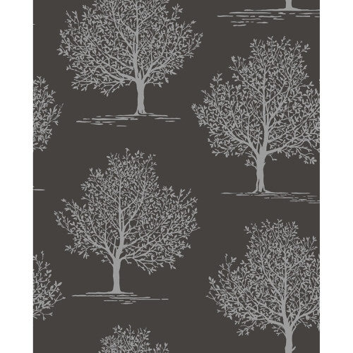 Fine Decor Wallpaper Sparkle 2 Glitter Tree Black DL40591 Sample