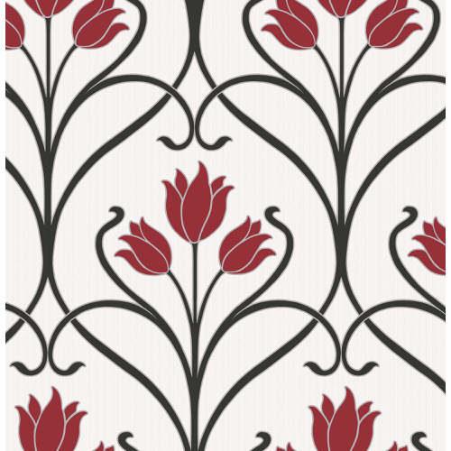 Fine Decor Wallpaper Paris Damask Red FD40654 Sample
