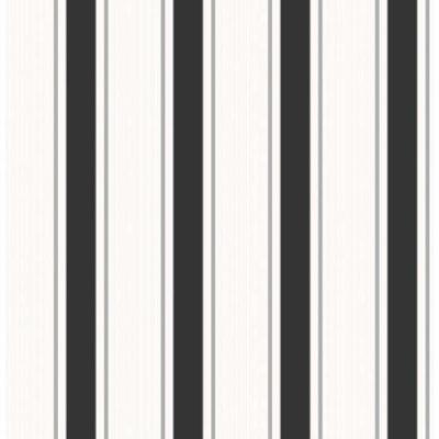 Fine Decor Wallpaper Paris Stripe Black & White FD40655 Sample