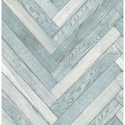 Fine Decor Parquet Wood Wallpaper Blue FD40883 Sample
