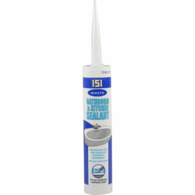 151 310ml Bathroom & Kitchen Sealant White