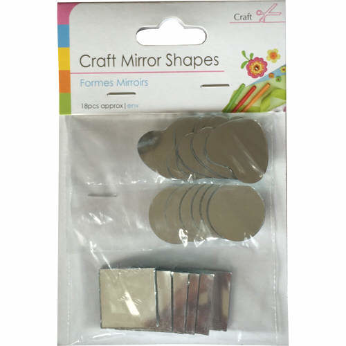 Craft Mirror Shapes Pack of 18