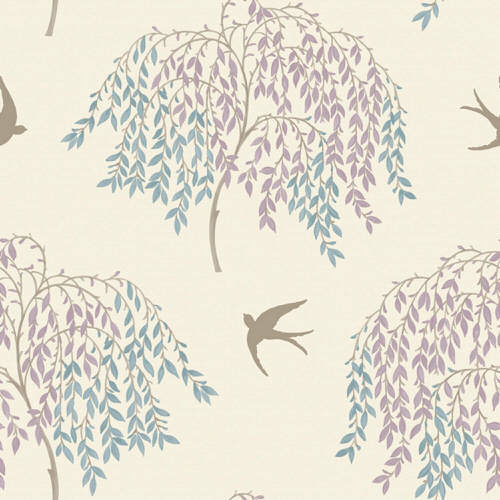 Arthouse Enchantment Wallpaper Willow Song Duck Egg/Heather 664701 Full Roll