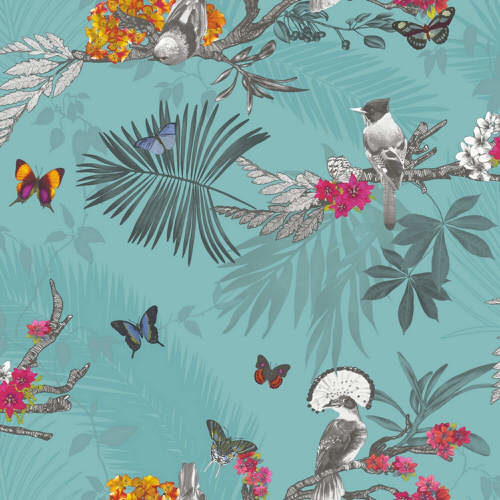 Arthouse Enchantment Wallpaper Mystical Forest Teal 664801 Full Roll