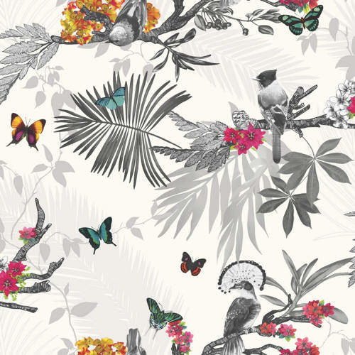 Arthouse Enchantment Wallpaper Mystical Forest White Multi 664802 Full Roll