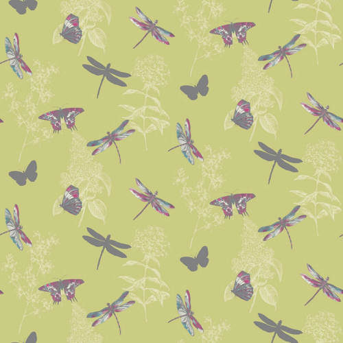Arthouse Enchantment Wallpaper Enchanted Wings Citrus 664900 Full Roll