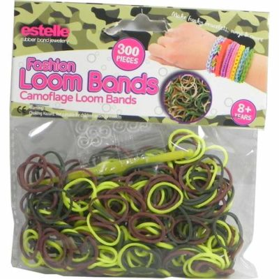 Green Camouflage Loom Bands Pack of 300