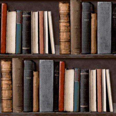 Grandeco Wallpaper Library POB-33-01-6 Brown Sample