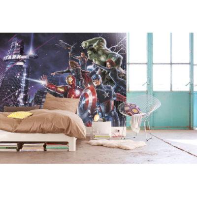 254 x 184cm Avengers Citynight Mural