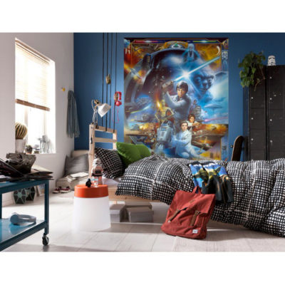 184 x 254cm Star Wars Luke Skywalker Collage Mural