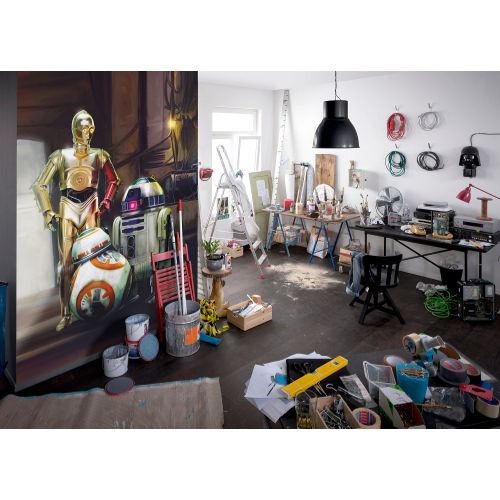 184 x 254cm Star Wars Three Droids Mural