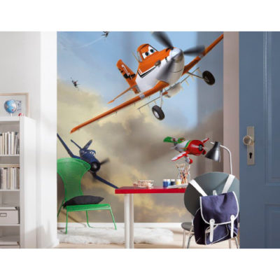 184 x 254cm Planes Dusty And Friends Mural