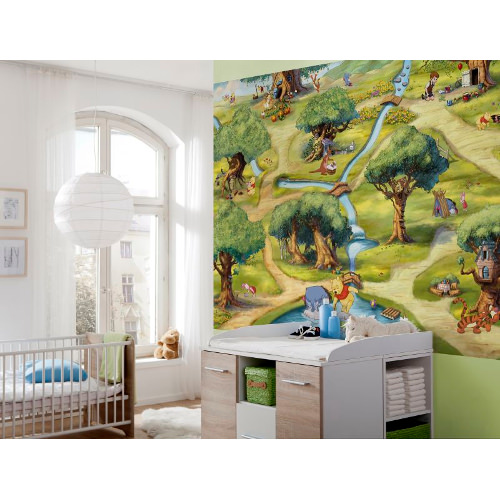 254 x 184cm Winnie Hundertmorgenwald Mural
