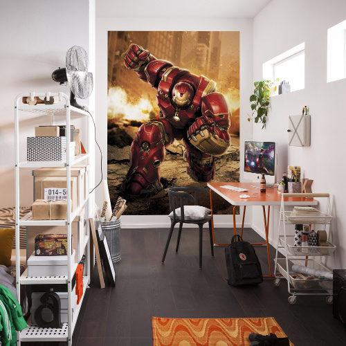 184 x 254cm Avengers Hulkbuster Mural