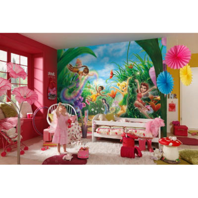 368 x 254cm Fairies Meadow Mural
