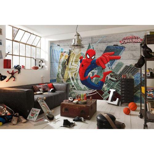 368 x 254cm Spider-Man Concrete Mural