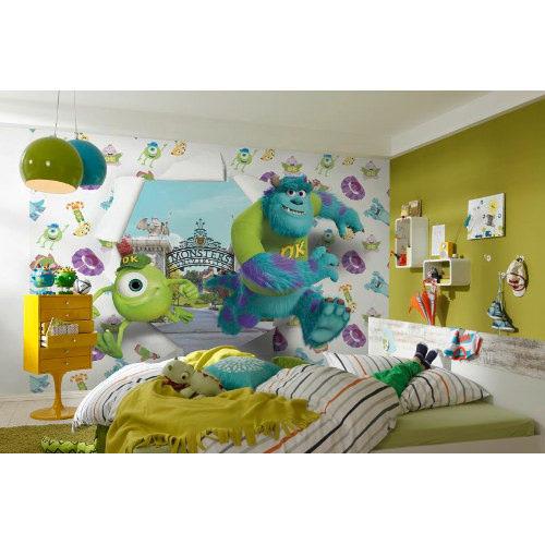 368 x 254cm Monsters University Wallbreaker Mural