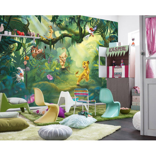 368 x 254cm Lion King Jungle Mural
