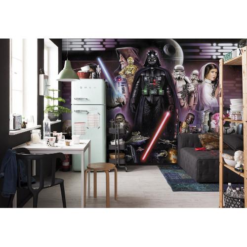368 x 254cm Star Wars Darth Vader Collage Mural