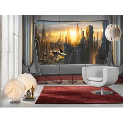 368 x 254cm Star Wars Coruscant View Mural