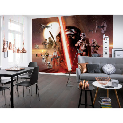 368 x 254cm Star Wars Ep7 Collage Mural