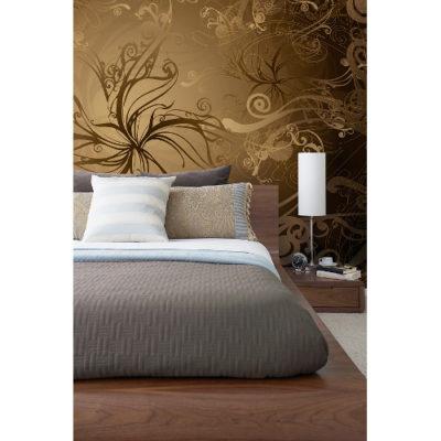 368 x 254cm Gold Wall Mural