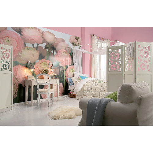 368 x 254cm Gentle Rose Wall Mural