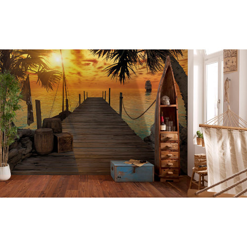 368 x 254cm Treasure Island Mural