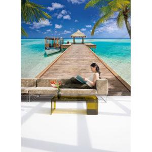 368 x 254cm Beach Resort Mural