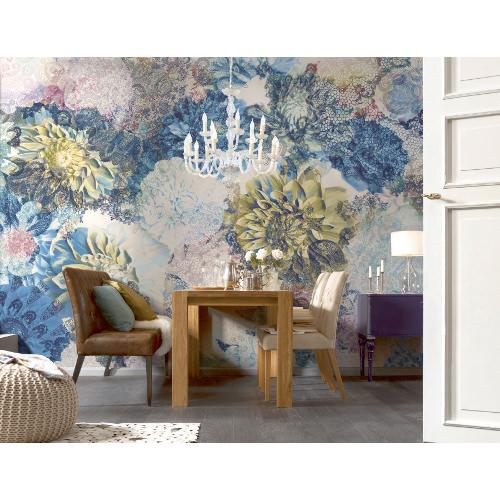 368 x 254cm Frisky Flowers Wall Mural