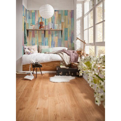 368 x 248cm Painted Wood Wall Mural