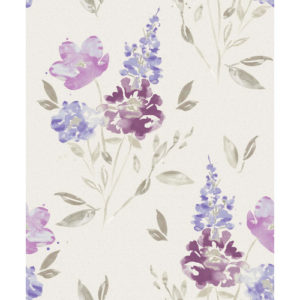 Crown Wallcoverings Sancerre Vinyl Wallpaper M1044 Damson Sample