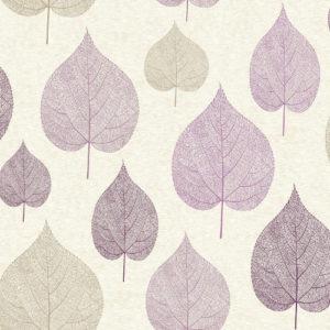 Crown Wallcoverings One Leaf Wallpaper Purple M1068 Sample