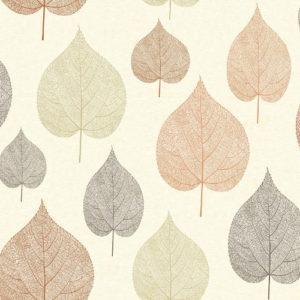 Crown Wallcoverings One Leaf Wallpaper Brown M1069 Sample