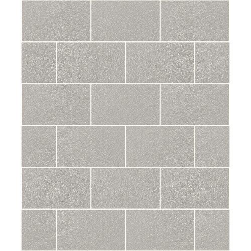 Crown Wallcoverings London Glitter Tile Wallpaper Grey M1123 Sample