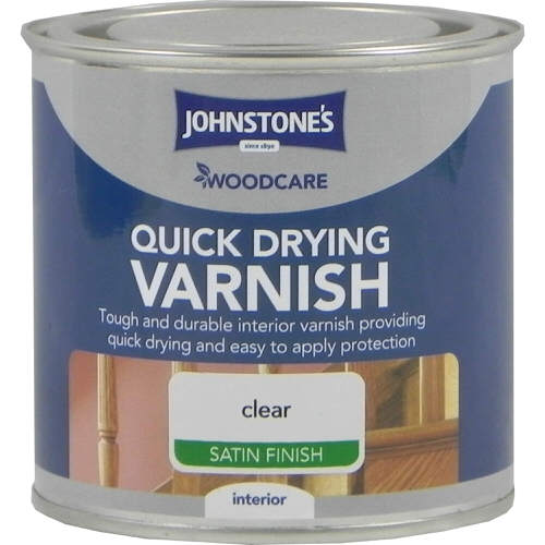 Johnstones Woodcare Quick Dry Varnish Clear Satin 250ml