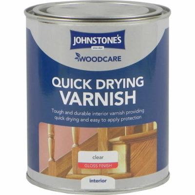 Johnstones Woodcare Quick Dry Varnish Clear Satin 750ml
