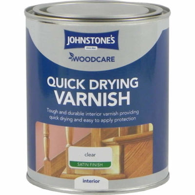 Johnstones Woodcare Quick Dry Varnish Clear Gloss 750ml