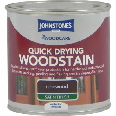 Johnstones Woodcare Quick Dry Woodstain Rosewood 250ml