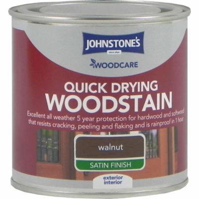 Johnstones Woodcare Quick Dry Woodstain Walnut 250ml