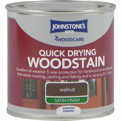 Johnstones Woodcare Quick Dry Woodstain Walnut 250ml